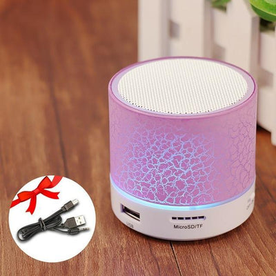 TrendCabin Pink Mini LED Bluetooth Speaker