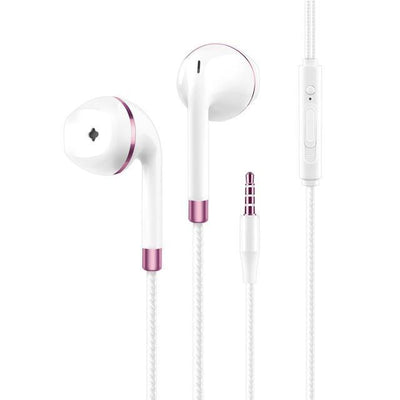 TrendCabin Pink Wired Stereo Earbuds