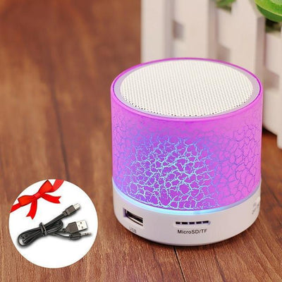 TrendCabin Purple Mini LED Bluetooth Speaker