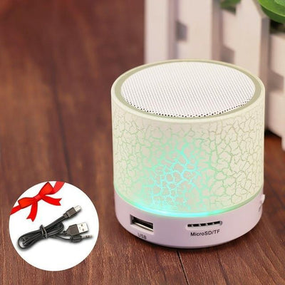 TrendCabin White Mini LED Bluetooth Speaker