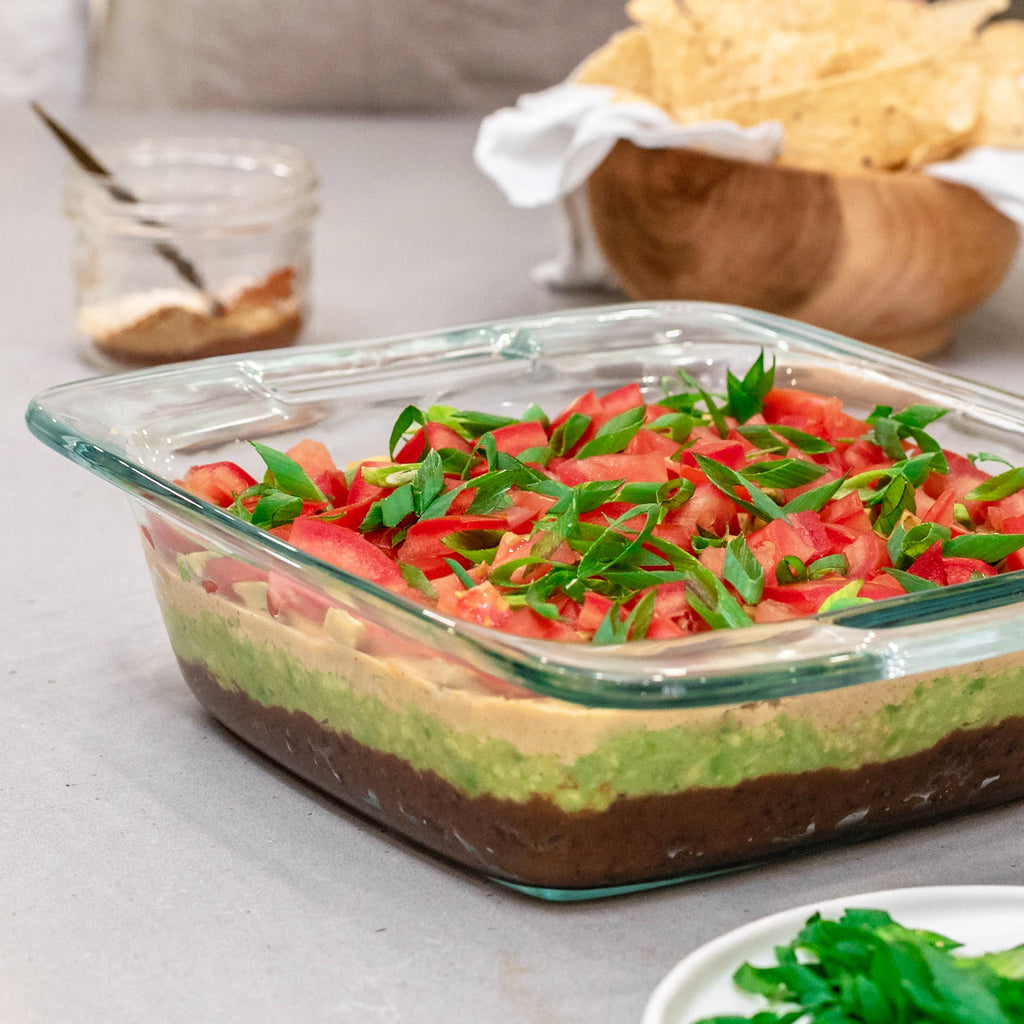 Vegan Mac Layered Taco Dip
