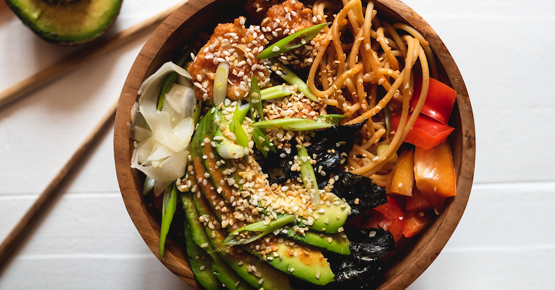 Korean-Inspired Cauliflower Noodle Bowl