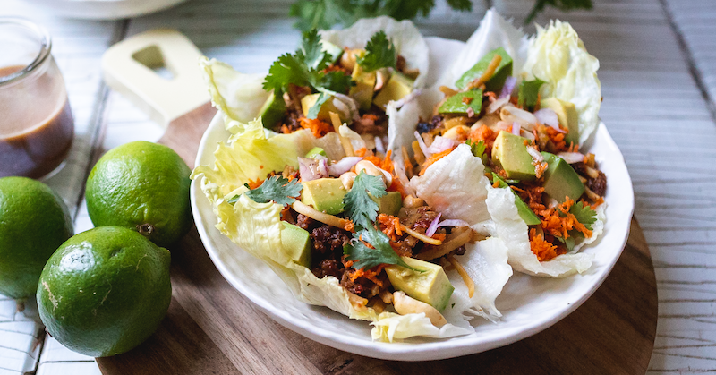 Asian-Inspired Noodle Lettuce Wraps