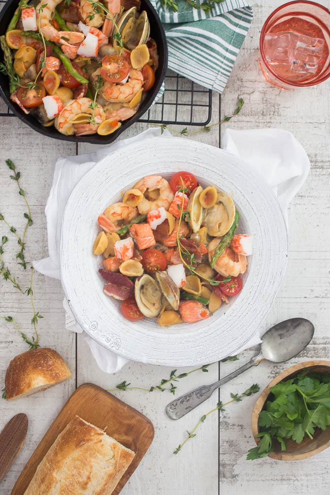 Seafood Paella with Pasta