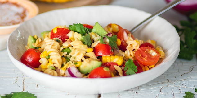 Roasted Corn and Noodle Salad