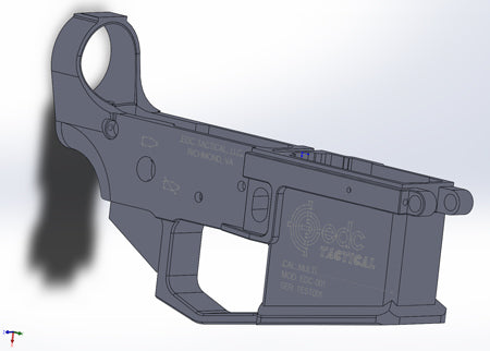 EDC Tactical Lower Receiver Solidworks Model