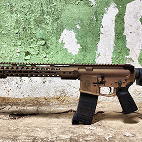 EDC Tactical THE GENERAL Custom AR-15 Rifle, Burnt Bronze Cerakote and Bearclaw Stainless Steel Barrel