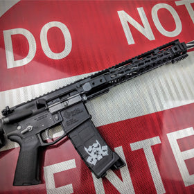 EDC Tactical THE GENERAL Custom AR-15 Rifle, Cerakote Graphite Black and Tactical Gray accents, Bearclaw Stainless Steel Barrel, stenciled magazine