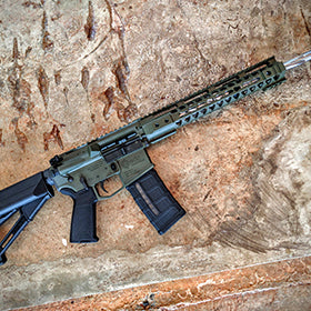 EDC Tactical THE GENERAL AR-15 Rifle, OD Green Cerakote