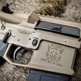 EDC Tactical Custom Build in 6.8 SPC with Custom Engraving, Stencil and Cerakote