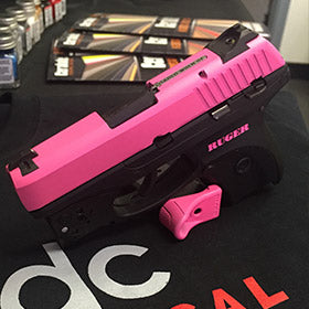 Ruger LC9 wtih Prison Pink Cerakote Slide with Matching Color Fill