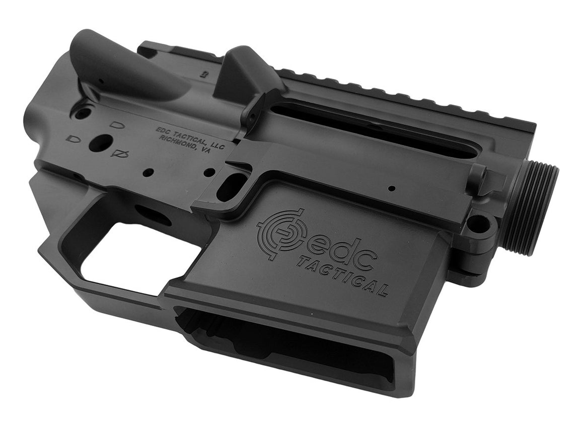 EDC Tactical AR-15 Upper Lower Receiver Combo Set Passenger Side - GRAPHITE BLACK CERAKOTE