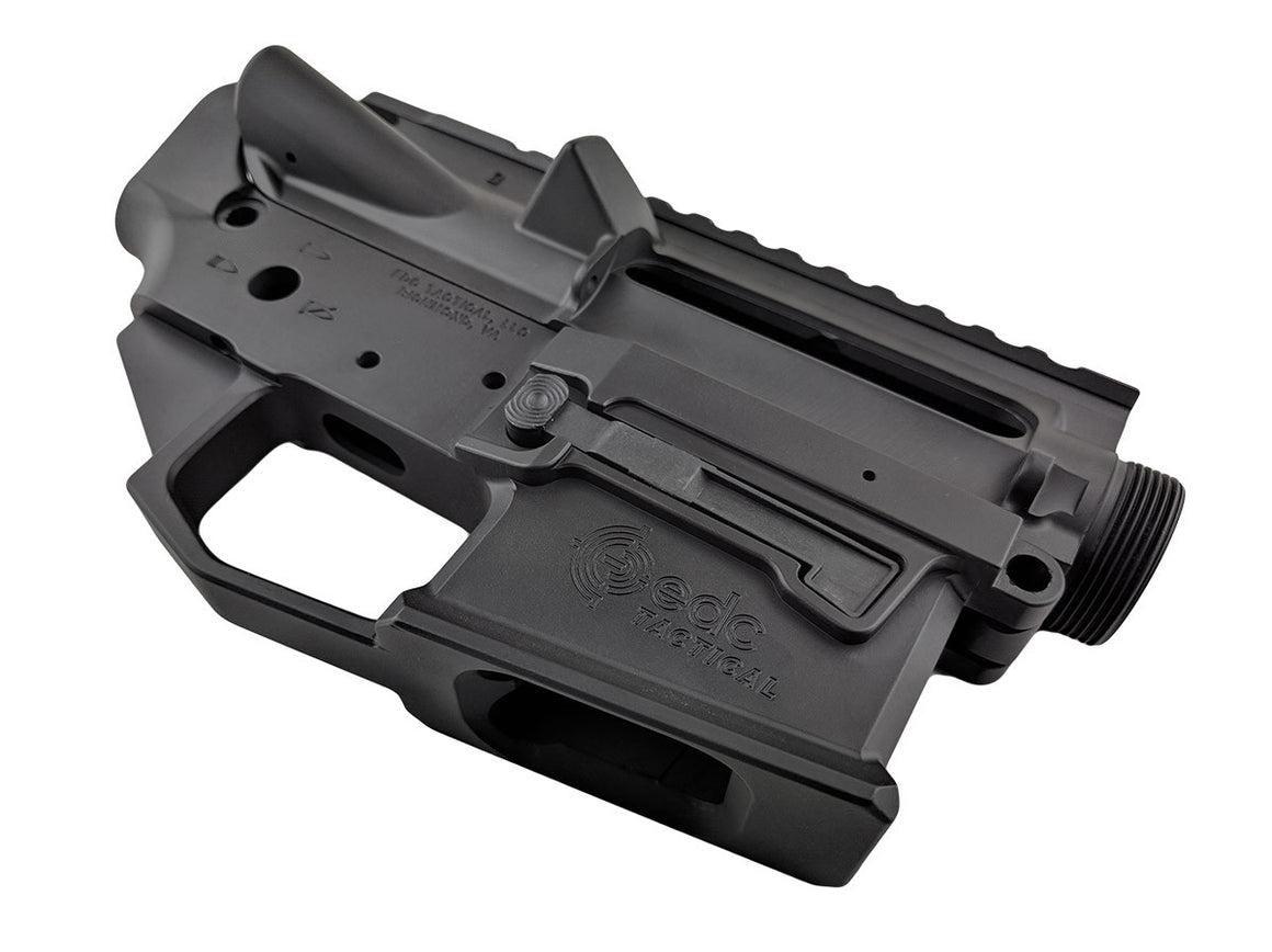 EDC-9 Upper Lower Receiver Combo Set Passenger Side - GRAPHITE BLACK CERAKOTE