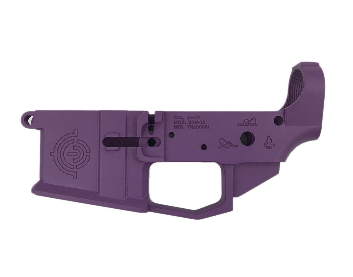 EDC Tactical GLITTER AR-15 Lower Receiver Passenger Side - WILD PURPLE CERAKOTE