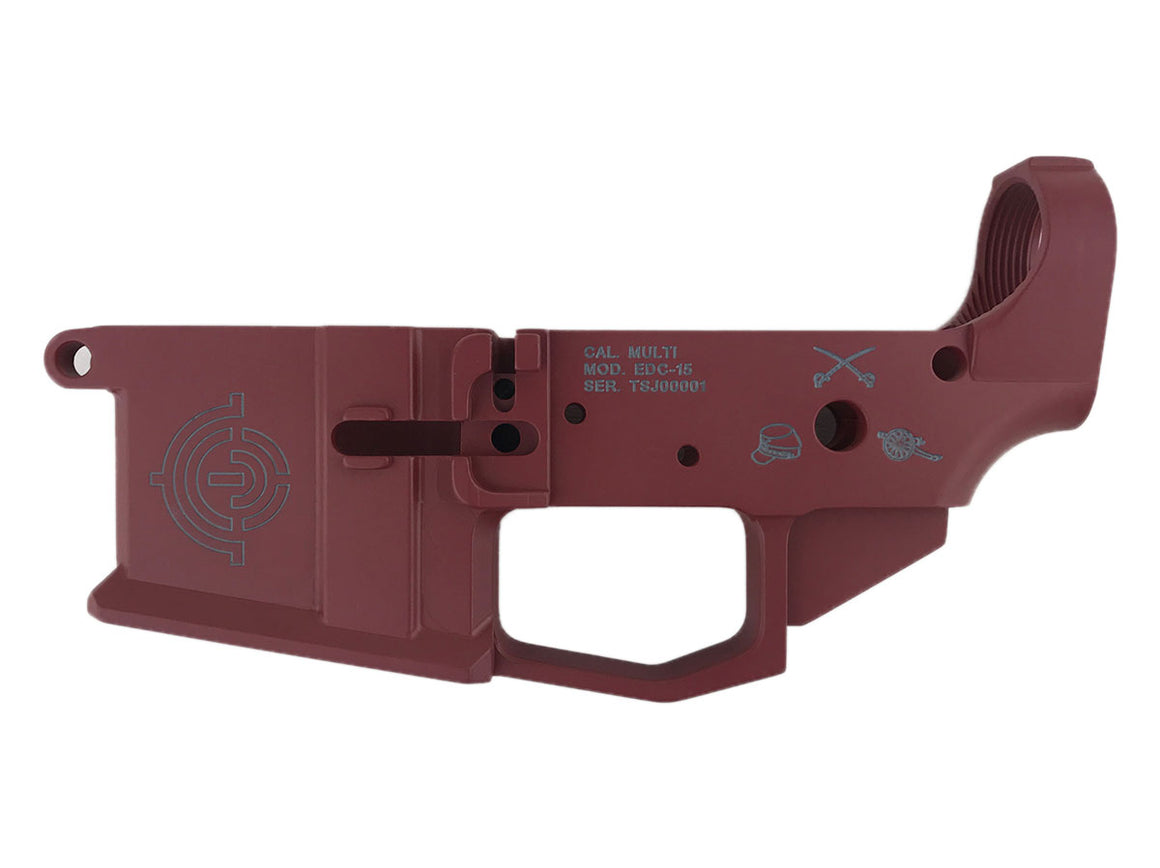 EDC Tactical Heritage Series - Jackson AR-15 Lower Receiver Passenger Side - CRIMSON CERAKOTE