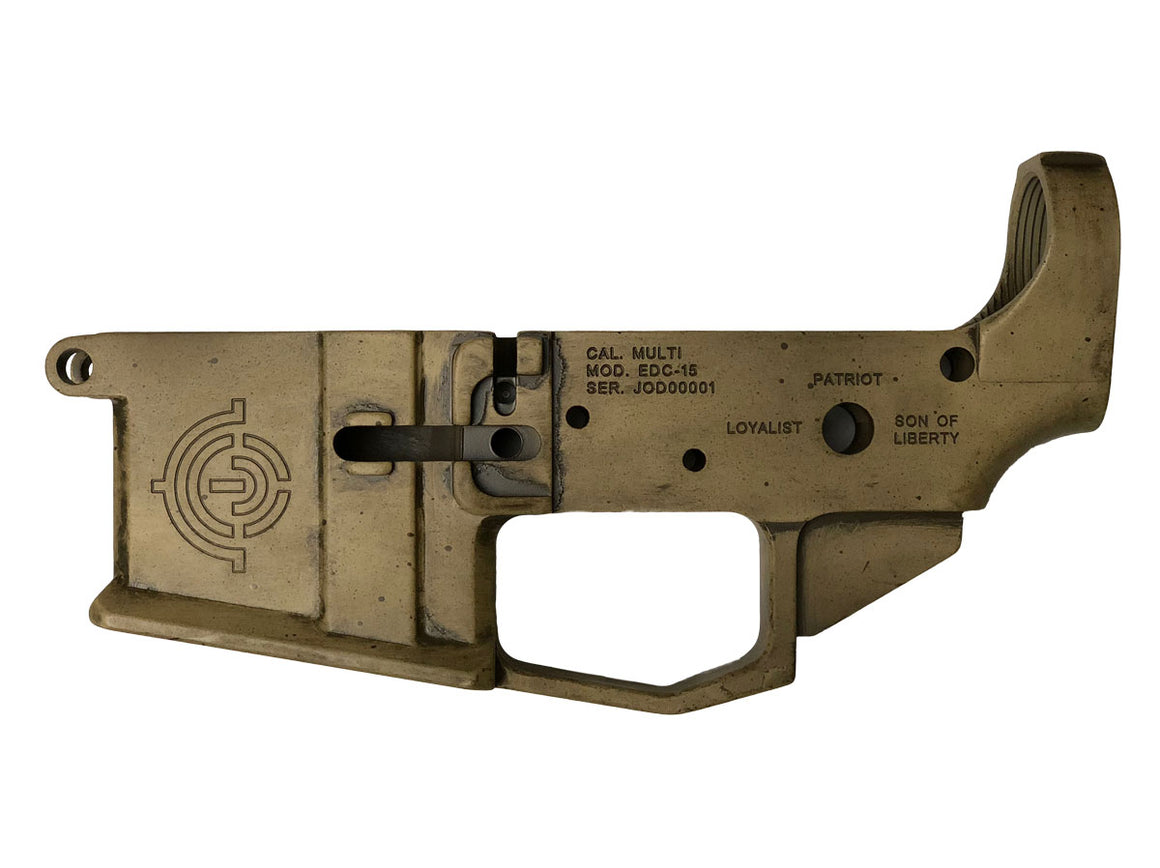 "EDC Tactical ""Join or Die"" AR-15 Lower Receiver Passenger Side - SPECIAL EDITION CERAKOTE"