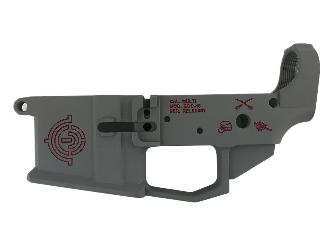 EDC Tactical Heritage Series - Lee AR-15 Lower Receiver Passenger Side - S&W GRAY CERAKOTE