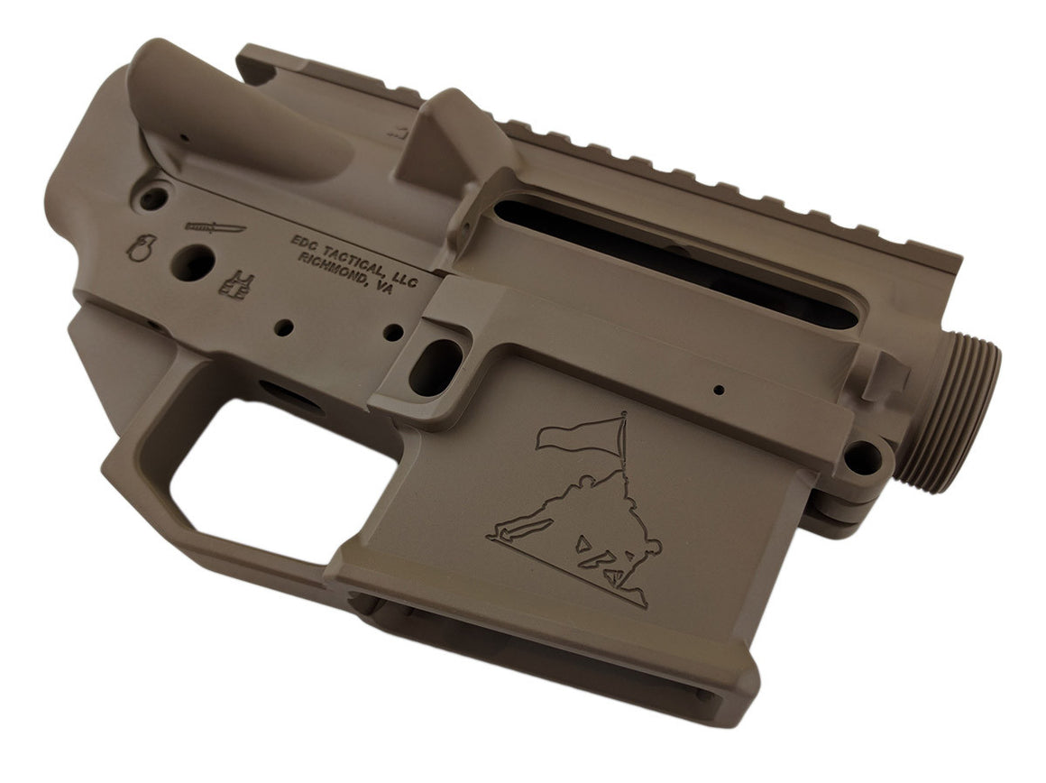 EDC Tactical OOHRAH AR-15 Upper Lower Receiver Combo Set Passenger Side - MAGPUL FDE CERAKOTE