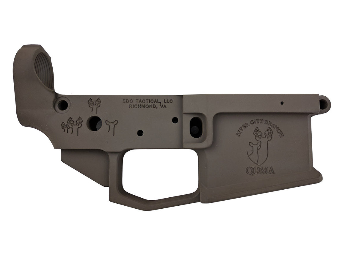 EDC Tactical QDMA AR-15 Lower Receiver Passenger Side - PATRIOT BROWN CERAKOTE