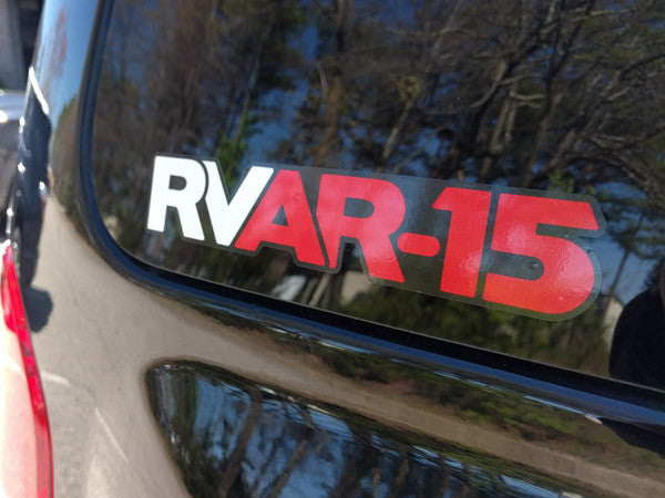 RVAR-15 - Red / White / Black Decal