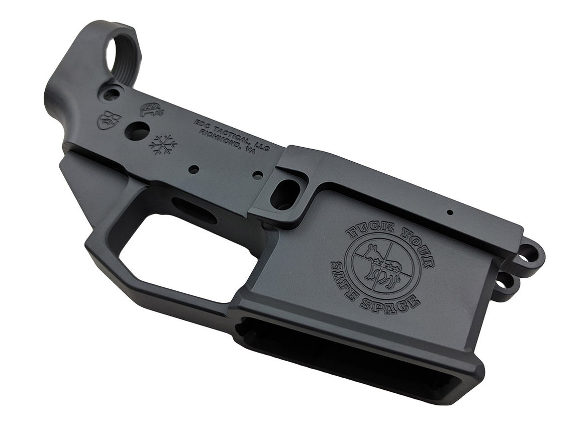 EDC Tactical Safe Space AR-15 Lower Receiver Driver Side - SNIPER GREY CERAKOTE
