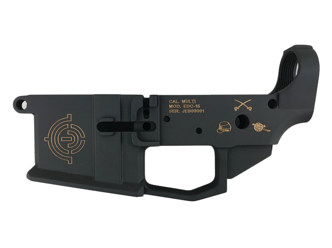 EDC Tactical Heritage Series - Stuart AR-15 Lower Receiver Passenger Side - SNIPER GREY CERAKOTE