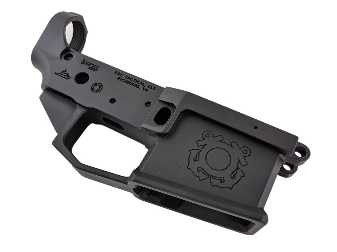 EDC Tactical The Cutter AR-15 Lower Receiver Passenger Side - GRAPHITE BLACK CERAKOTE