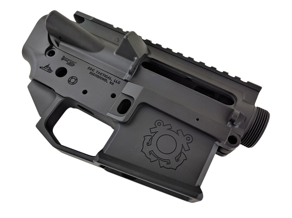 EDC Tactical THE CUTTER AR-15 Upper Lower Receiver Combo Set Passenger Side - GRAPHITE BLACK CERAKOTE