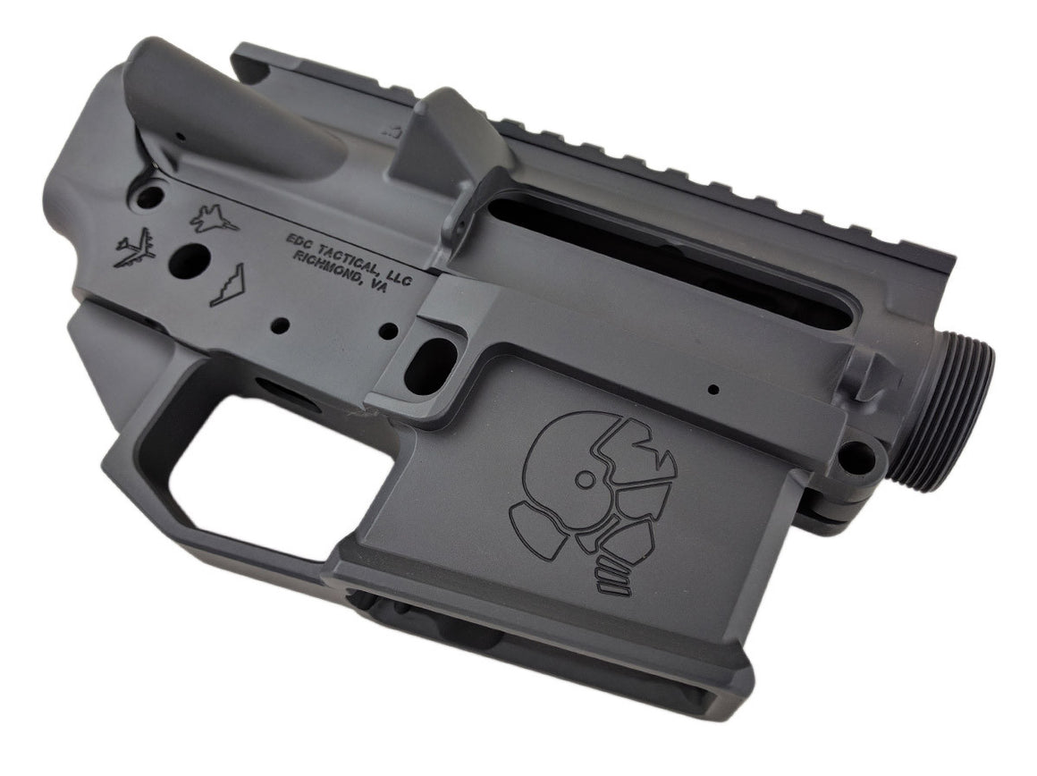 EDC Tactical THE EAGLE AR-15 Upper Lower Receiver Combo Set Passenger Side - SNIPER GREY CERAKOTE