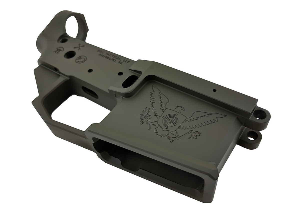 EDC Tactical THE GENERAL AR-15 Lower Receiver Passenger Side - OD GREEN CERAKOTE