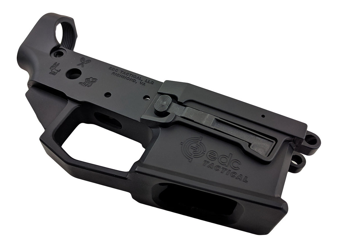 EDC Tactical TIJUANA ESPECIAL EDC-9 Billet Lower Receiver Passenger Side - GRAPHITE BLACK CERAKOTE