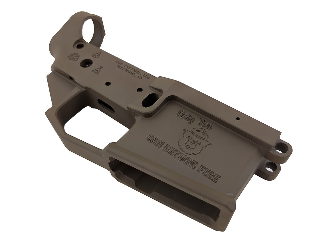 EDC Tactical WILDFIRE AR-15 Lower Receiver Passenger Side - PATRIOT BROWN CERAKOTE