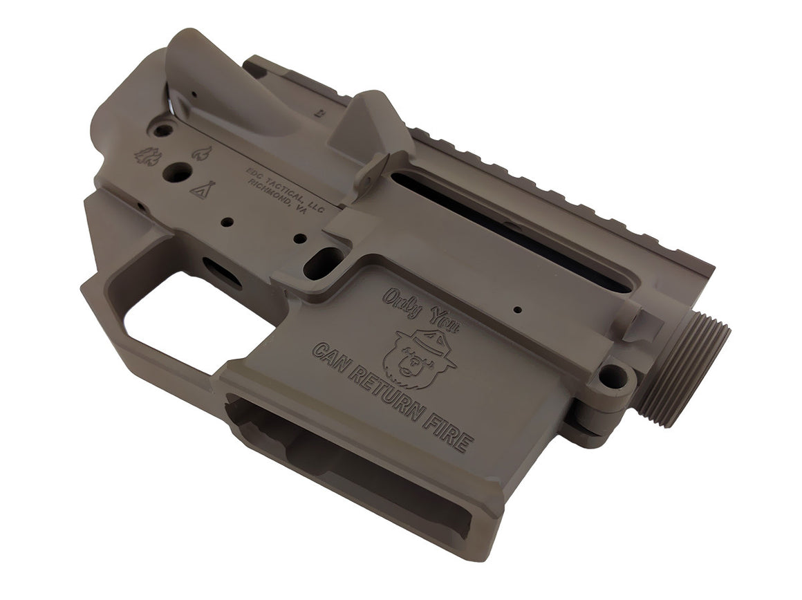 EDC Tactical WILDFIRE AR-15 Upper Lower Receiver Combo Set Passenger Side - PATRIOT BROWN CERAKOTE
