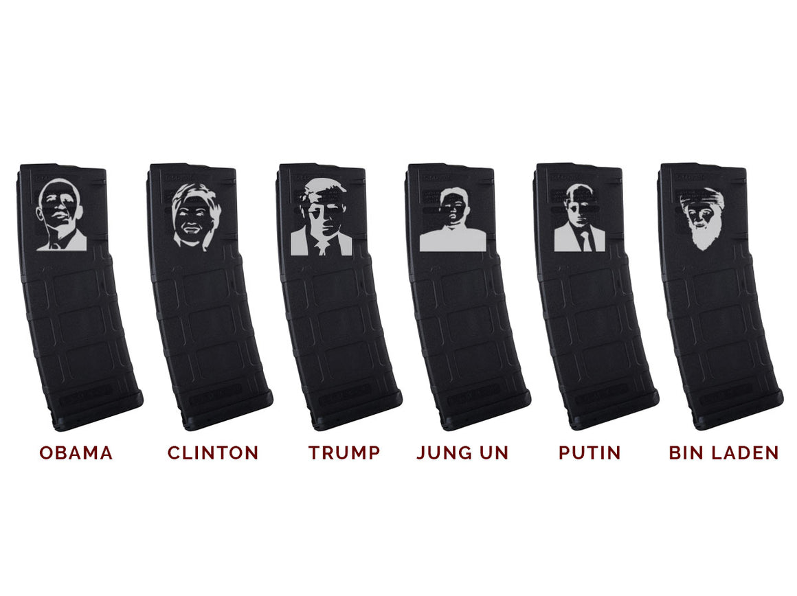 EDC Tactical - Unwanted Stenciled PMags - Obama - Clinton - Trump - Jung Un - Putin - Bin Laden
