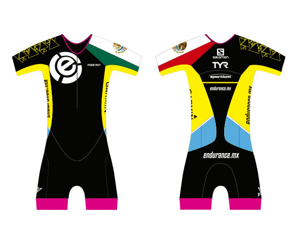 TRISUIT WOMAN WITH SLEEVE CUSTOM ENDURANCE MEXICO