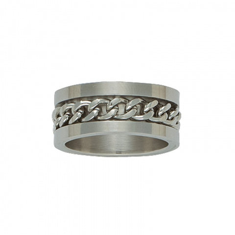 Bague Curb Chain