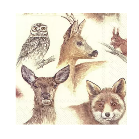 Serviettes de table Forest Animals