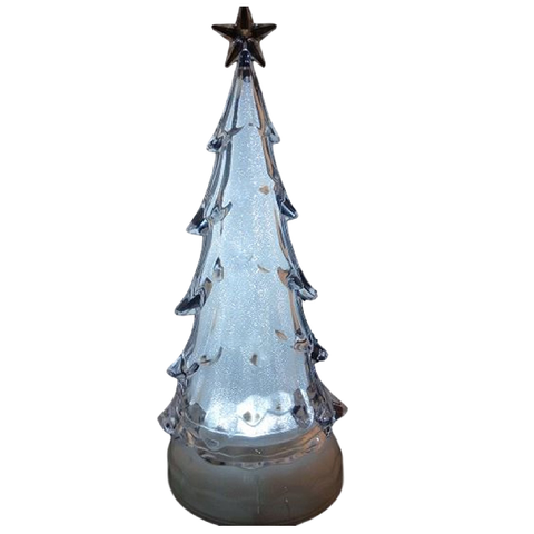 Sapin musical au LED blanc