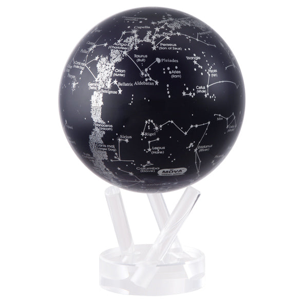 Globe Constellations Silver & Black Mova