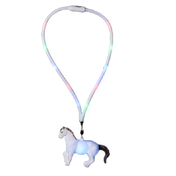 Collier lumineux cheval