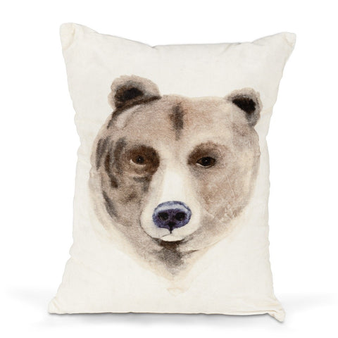 Coussin rectangulaire ours