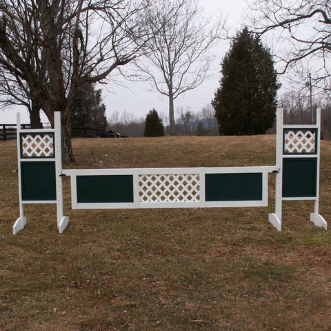 1 Center Lattice Panel Gate Wood Horse Jumps - Platinum Jumps