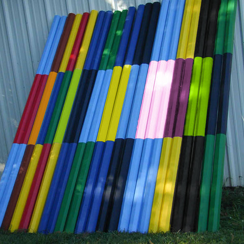 2 Color Stripe 10ft Cut Rails/Poles Wood Horse Jumps - Platinum Jumps