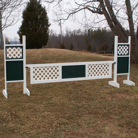 2 Outside Lattice Panel Gate Wood Horse Jumps - Platinum Jumps
