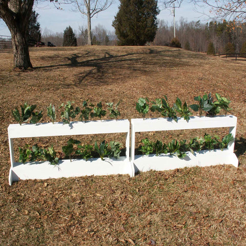 Double Decker Brush Box Horse Jumps Set/2 White - Platinum Jumps