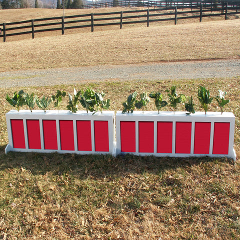 Picket Brush Box Horse Jumps Set/2 - Platinum Jumps