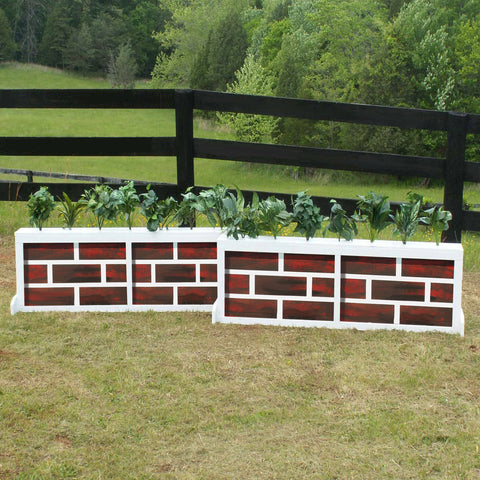 2 Panel Brick Brush Box Horse Jumps Set/2 - Platinum Jumps