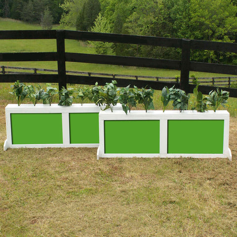 2 Panel Colored Brush Box Horse Jumps Set/2 - Platinum Jumps