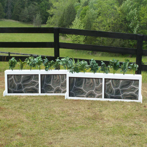 2 Panel Stone Brush Box Horse Jumps Set/2 - Platinum Jumps