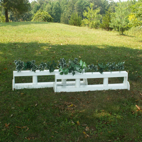 2 Column Double Decker Brush Box Horse Jumps Set/2 - Platinum Jumps